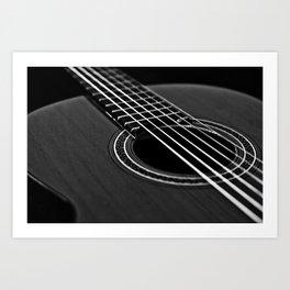 La guitarra Art Print