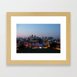 Kansas City Night Framed Art Print