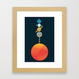 Solar System 2 Framed Art Print