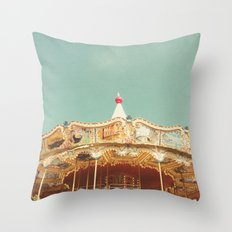 Carousel Lights Throw Pillow