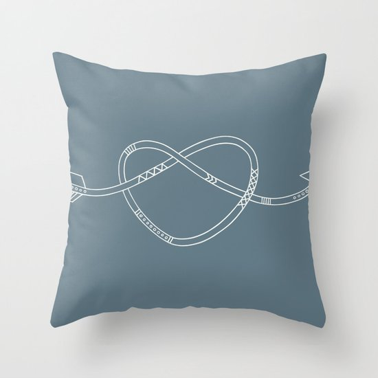 The Heart & The Arrow Throw Pillow