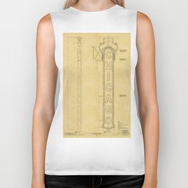 Chicago Theatre Blueprint Biker Tank