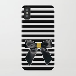 Bow + Stripe iPhone Case