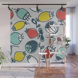 small, thick ballflower Wall Mural