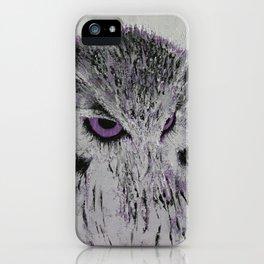 Violet Owl iPhone Case