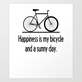 Bicycle Bike Fixie Singlespeed Shirt Racebike Art Print