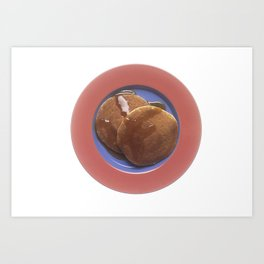 Pancakes with Maple Syrup Art Print