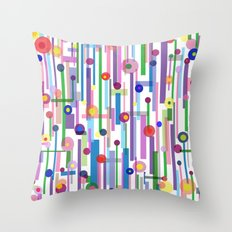 Plink (see also Plink Cherry and Plink Purple) Throw Pillow