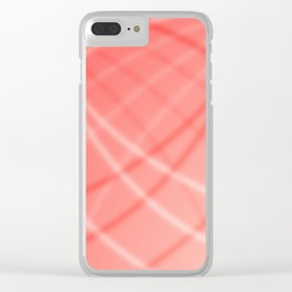 Red Background Clear iPhone Case