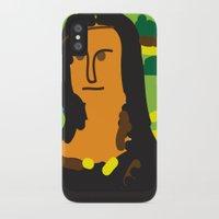 mona lisa iPhone & iPod Cases featuring Mona Lisa by UTOPIC STUDIO