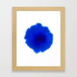 Blue splash Framed Art Print