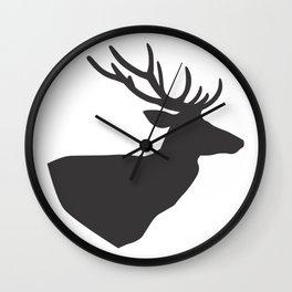 The Deer Head Wall Clock