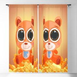 Teddy Bear - Candy Orange Blackout Curtain