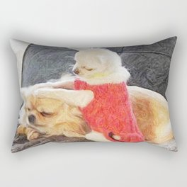Funny Chihuahuas Rectangular Pillow