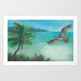 Belle's Journey: Island Hopping Art Print