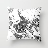 rome Throw Pillows featuring ROME by Maps Factory