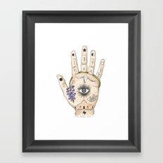Texas Palmistry Framed Art Print