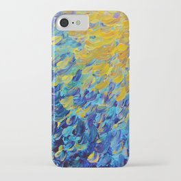 AQUATIC MELODY - Lovely Bright Abstract Ocean Waves Acrylic Painting Colorful Rainbow Beach Gift Art iPhone Case