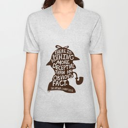 An Obvious Fact Unisex V-Neck