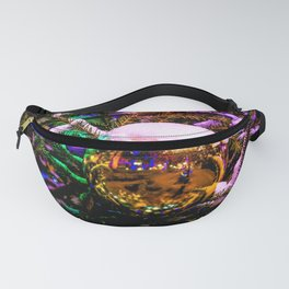 Yellow Christmas Ornament Ball Fanny Pack