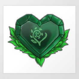 Heart of Earth Art Print