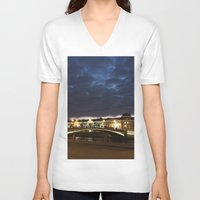 moscow V-neck T-shirts featuring Night Moscow. by Mikhail Zhirnov