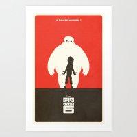 big hero 6 Art Prints featuring Big Hero 6 by FelixT