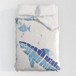Silent Killer eats Nom Nom Fish Comforters