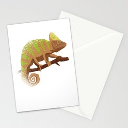 Green Brown Chameleon Stationery Cards