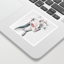 WOMAN WITH FLOWERS 11 Sticker