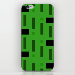 Pattern of Squares in deep Green iPhone Skin