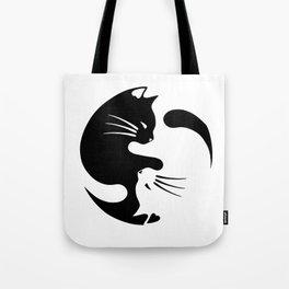 Cat ying yang Tote Bag