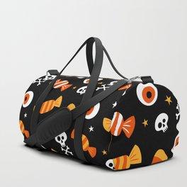 Happy halloween sweets, eyeballs and skulls Duffle Bag