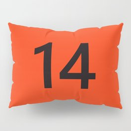 Legendary No. 14 in orange and black Pillow Sham