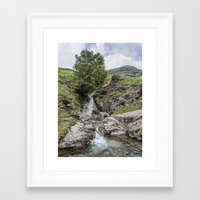 cassia beck Framed Art Prints featuring Comb Beck Buttermere by Graham Moore