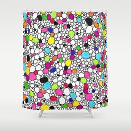 Circles and Other Shapes and colors Shower Curtain
