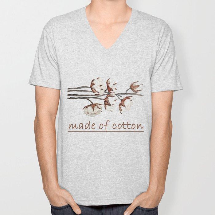 cotton Unisex V-Neck