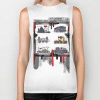 cities Biker Tanks featuring Cities 2 by sladja