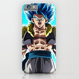 dbz blue hair iPhone Case