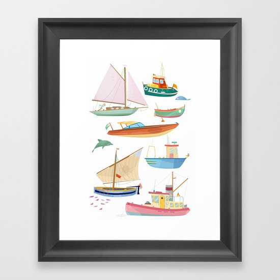 Boats poster by valeriaeffe