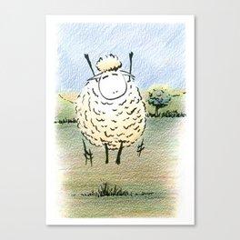 Jubilant Jumping  Sheep Canvas Print