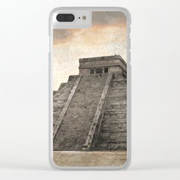 Mayan pyramid - Mexico Clear iPhone Case