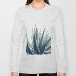 Agave Blue Vibe #1 #tropical #decor #art #society6 Long Sleeve T-shirt
