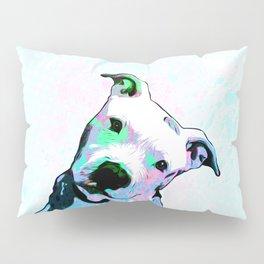 Pit bull - Puzzled - Pop Art Pillow Sham
