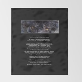 TWO WOLVES CHEROKEE  Native American Tale Throw Blanket