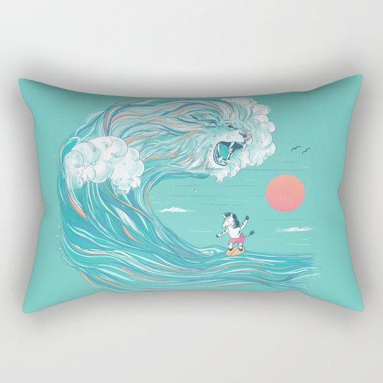 surfing zebra Rectangular Pillow