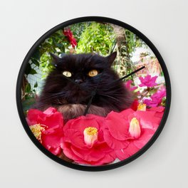 King of flowers  Pomponio Mela Wall Clock