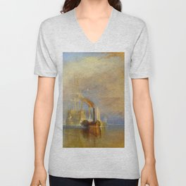 "J. M. W. Turner ""The Fighting Temeraire"" Unisex V-Neck"