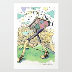 Walkin' Home (north east bound)  Art Print