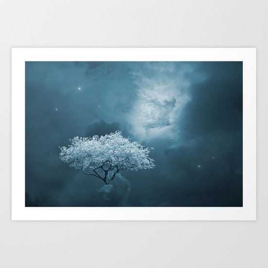 I Dream in Blue Art Print